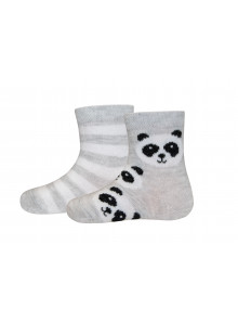 Ewers Socken 2er Pack Panda/Ringel