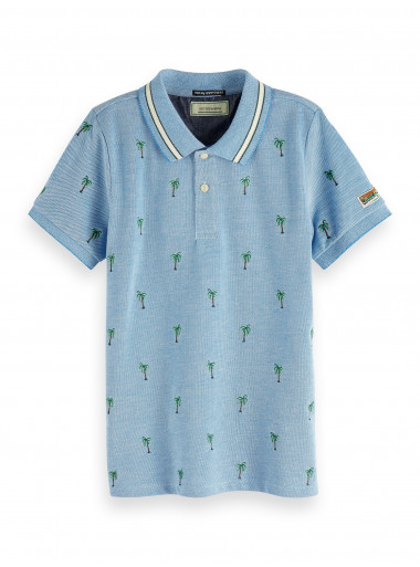 Scotch Shrunk Poloshirt Palmen