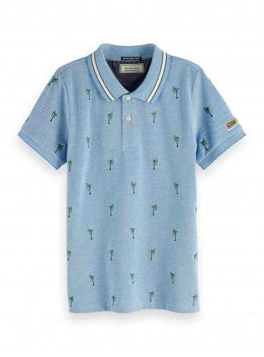 Scotch Shrunk Poloshirt Palmen