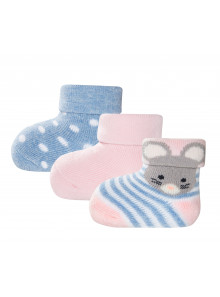 Ewers Newborn Socken Maus