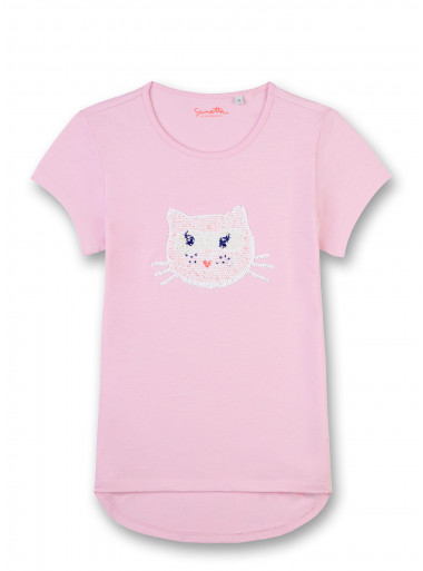 Sanetta Kidswear T-Shirt Wendepailletten Katze