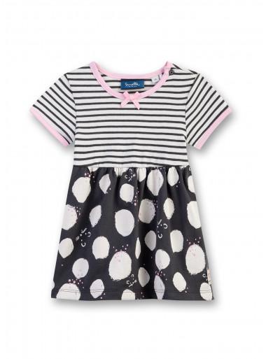 Sanetta Kidswear Kleid Streifen/Punkte