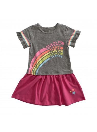 Topo Kleid Regenbogen