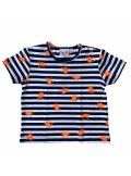 Topo T-Shirt Streifen mit Krebse