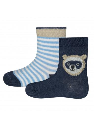 Ewers Socken 2er Pack Waschbär/Ringel