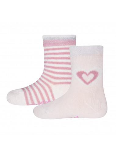Ewers Socken 2er Pack Ringel/Herz
