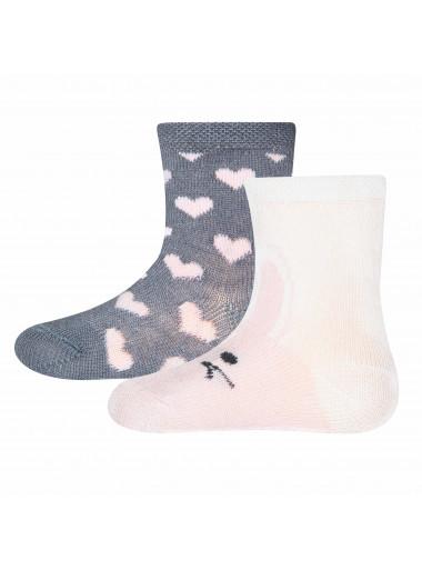 Ewers Socken 2er-Pack Hase/Herzen